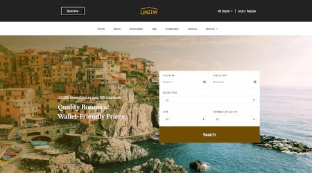 Web design for homestay and tourism