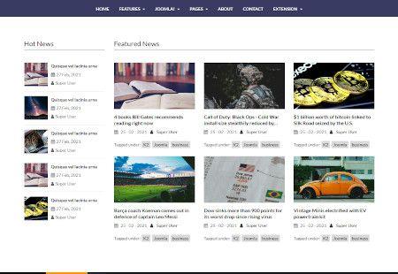 LMS NewsHub Web Design Middle Section