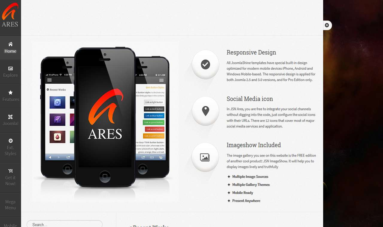 LMS Ares Web Design Template