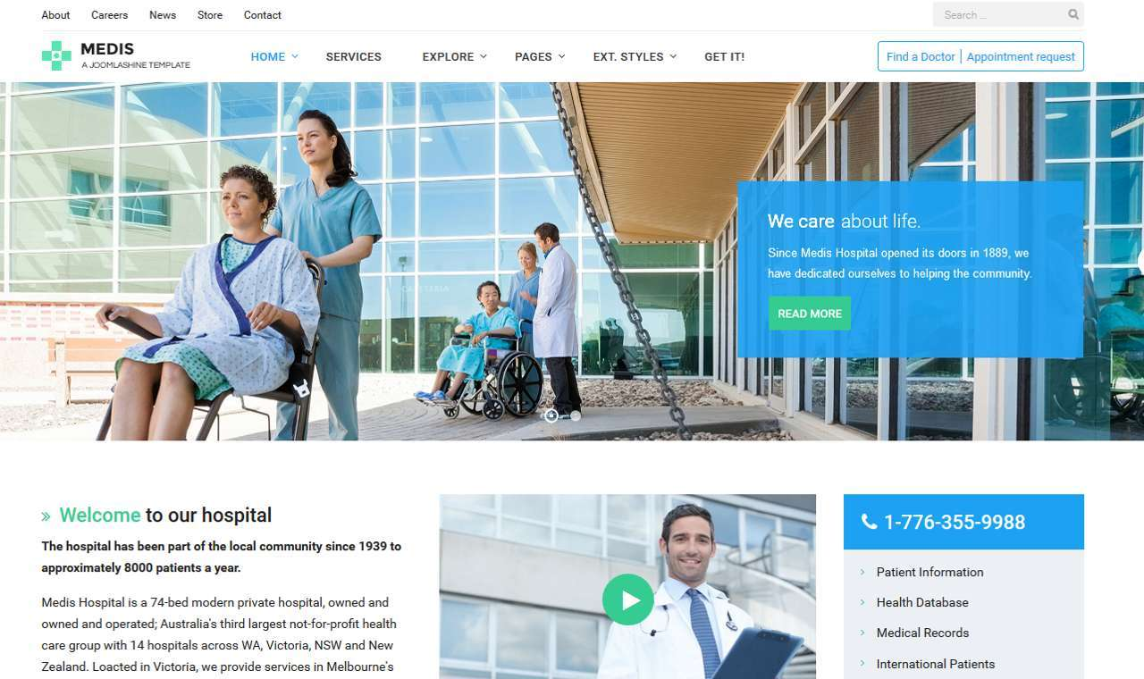 LMS Medis Web Design Template