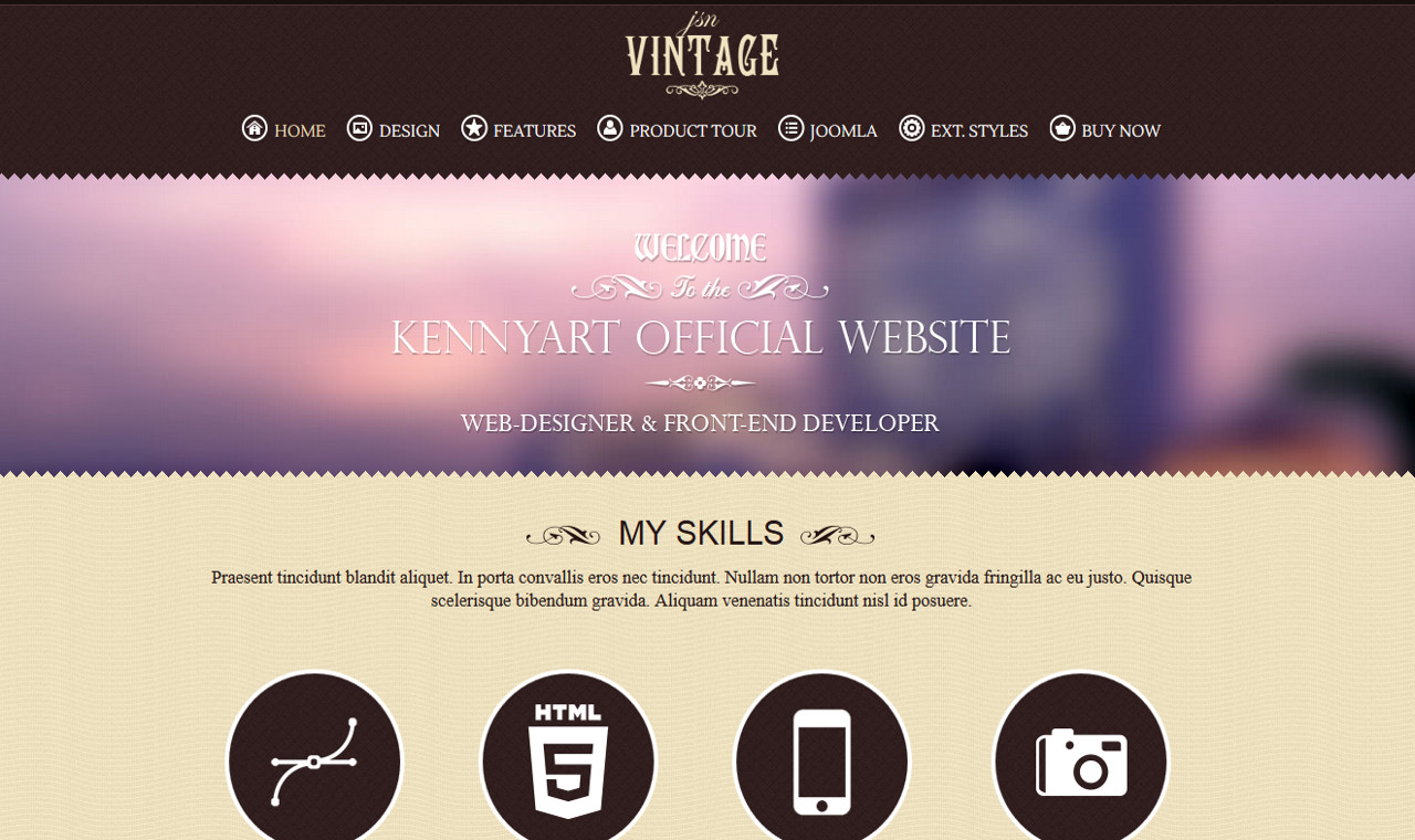 LMS Vintage Web Design Template