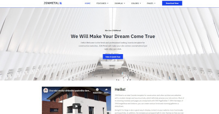 LMS Buildup Metal Website Design