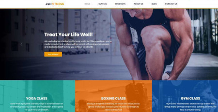 LMS Fitness Website Design