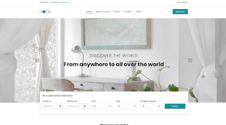 LMS Hotel and Booking Website Design Template