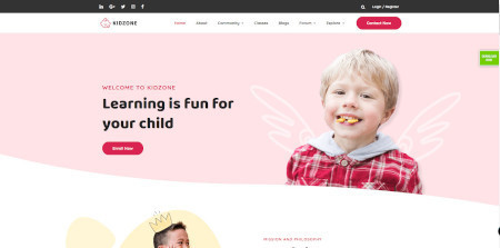 LMS Kidzone Website Design Template