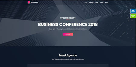 Best website design for events, conference and meetup